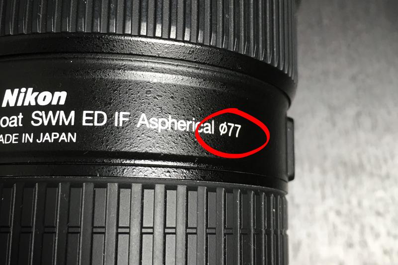Getallen op een lens - filtermaat