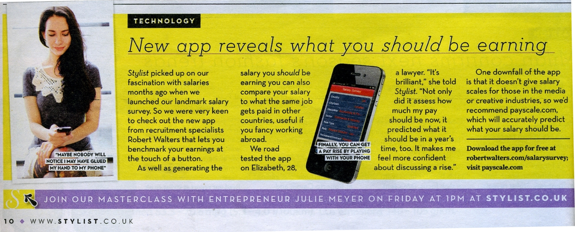 salary checker app reviewed as brilliant in stylist magazine salary checker stylist002 jpg