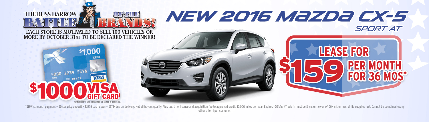 Dont Miss This Great Mazda CX Lease Special Russ Darrow - Mazda cx 5 lease specials