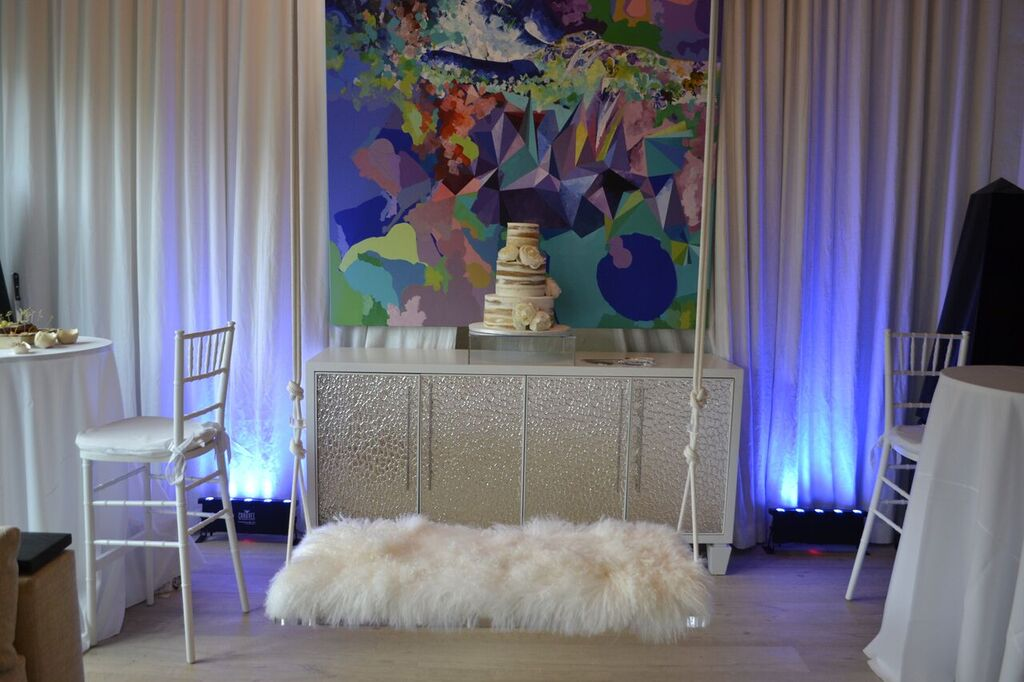 Yes That Is A Fluffy Furry Swing At Wynwood Lab You Can Have Turn WynwoodLab EventVenue ArtGallery Miami Venue EventPlanner Event