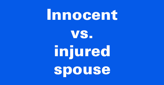 Innocent Spouse Relief Granted When A Married Couple Files A