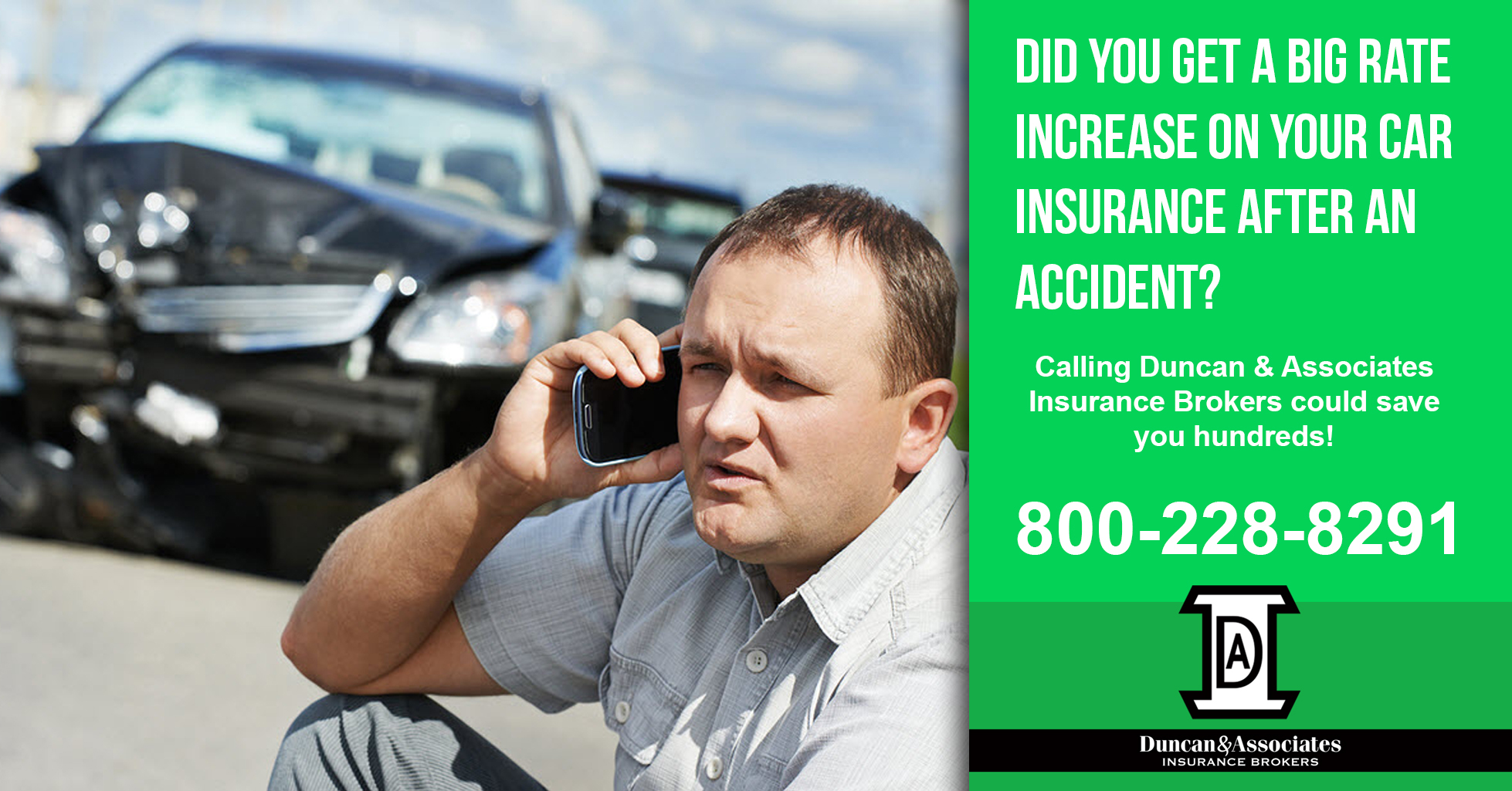 Have you been in an accident recently did you see a big rate hike on your olympia auto insurance if so then call us today or visit www duncanins