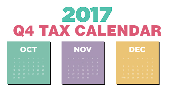 2017 tax due dates