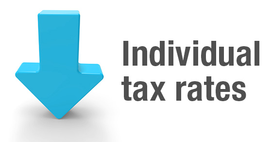 Most individual tax rates go down under the Tax Cuts and Jobs Act