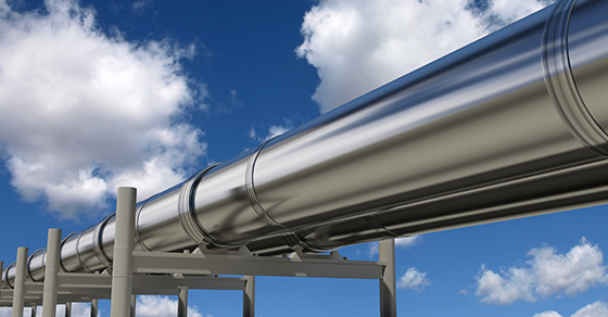 pipeline with blue sky background