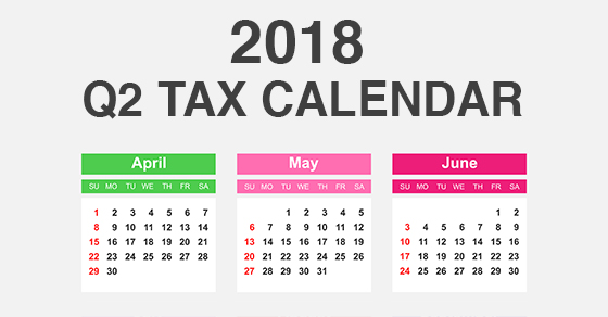 2018 Tax Calendar Dallas CPA