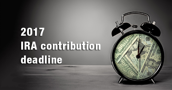 You still have time to make 2017 IRA contributions. Learn more.