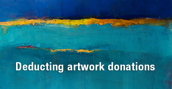 Donating Artwork: Learn About the Tax Benefits