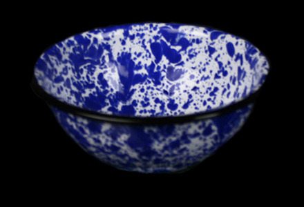 Blue Tinware Bowl