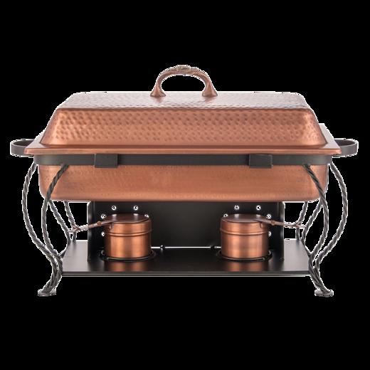 8 qt. Rectangular Copper Chafing Dish