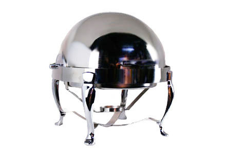 8 qt. Round Roll-Top High Polish Chafing Dish