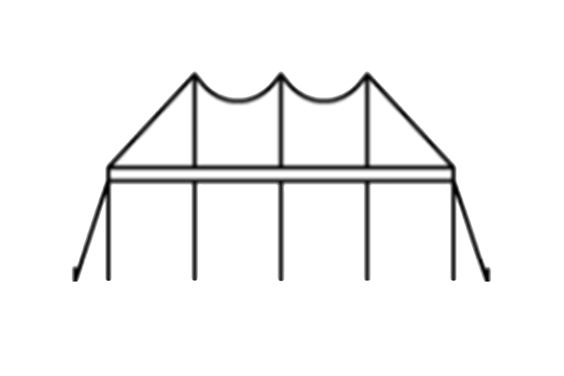 60 x 60 Pole Tent