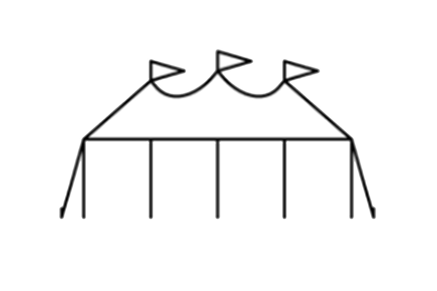 44 x 103 Sailcloth Tent