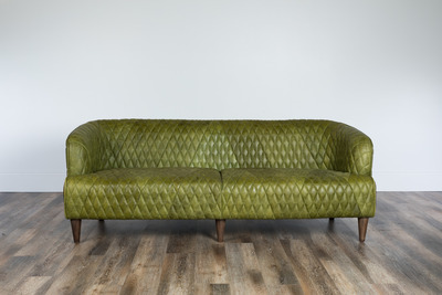 Magdelan Quilted Leather Sofa Small