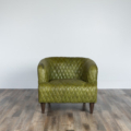 Magdelan Quilted Leather Chair Small