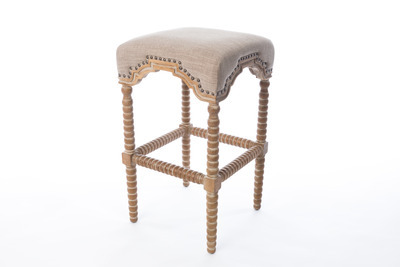 Shiloh Spindle Stool, Latte