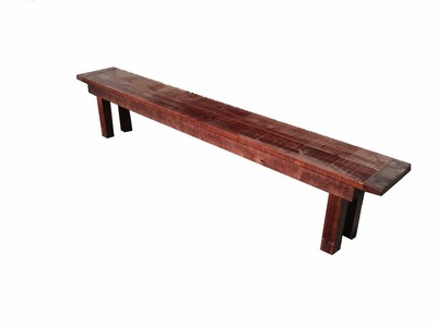 Mahogany Farm Bench