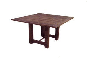 "Square Mahogany Farm Table (4'6"" x 4'6"")"
