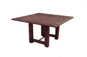 "Square Mahogany Farm Table (4'6"" x 4'6"")"