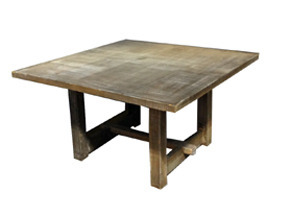 Square Driftwood Farm Table