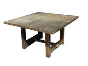 Square Driftwood Farm Table
