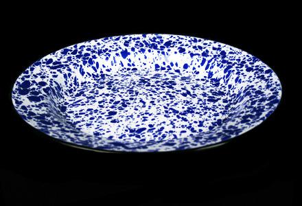 Blue Tinware Dinner Plate