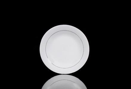 Silver Rim Salad/Dessert Plate