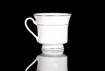 Silver Rim Coffee Cup