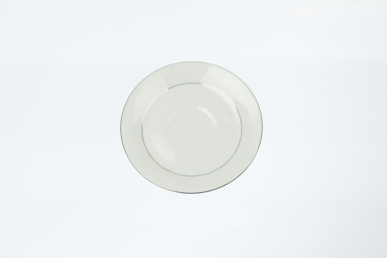 Silver Rim Saucer