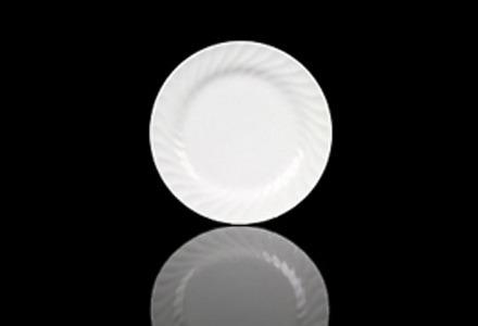 White Swirl Salad/Dessert Plate