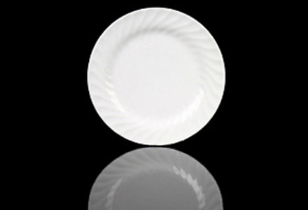 White Swirl Dinner Plate