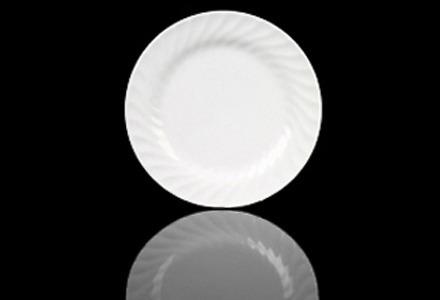 White Swirl Dinner Plate