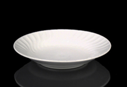 White Swirl Soup Plate