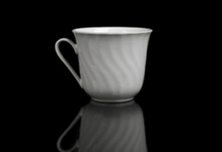 White Swirl Coffee Cup