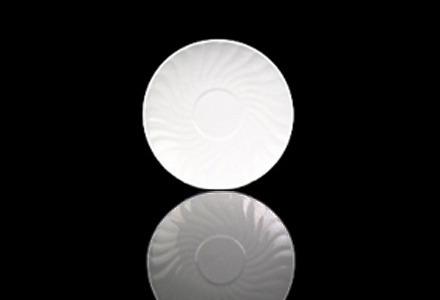 White Swirl Saucer