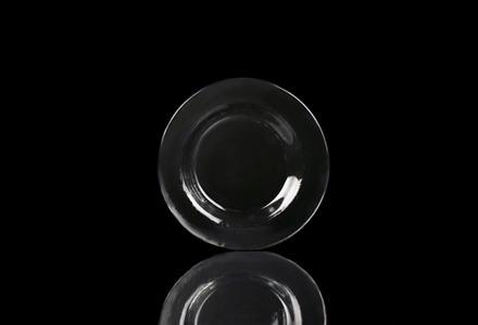 Textured Glass Salad/Dessert Plate
