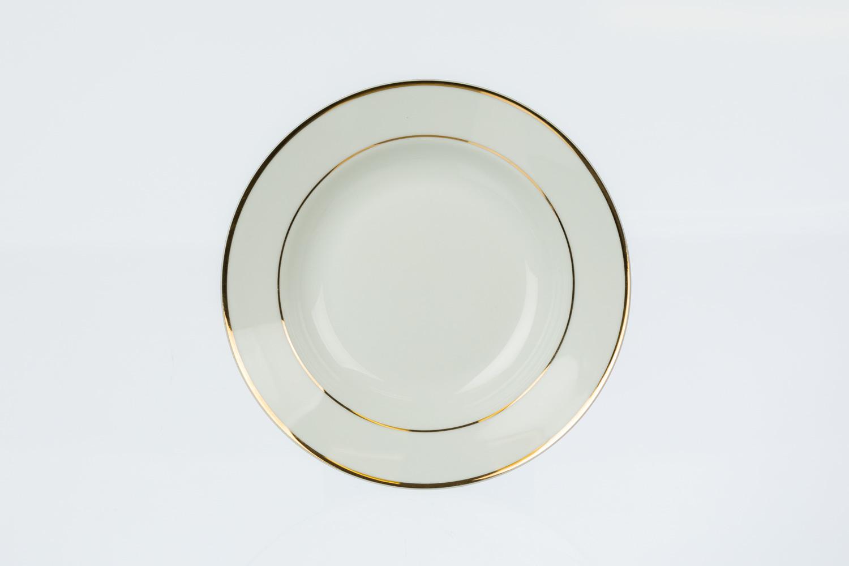 Gold Rim Soup Plate