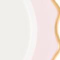 Isabella Gold Rim Charger Blush Detail