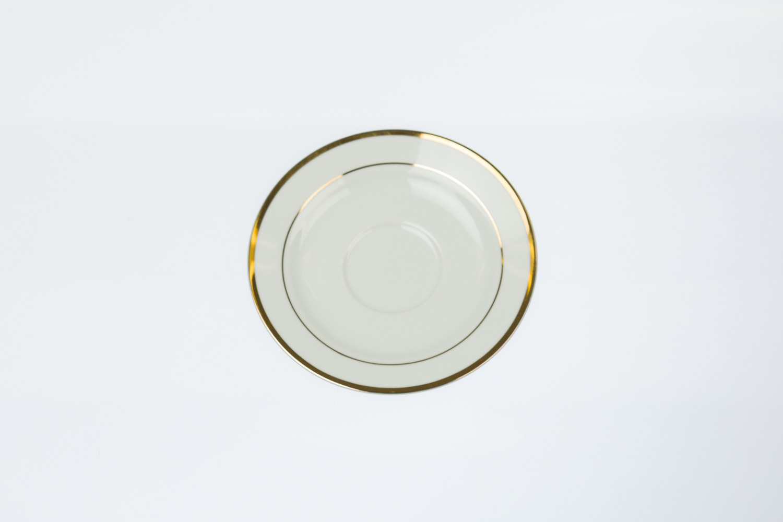 Gold Rim Saucer