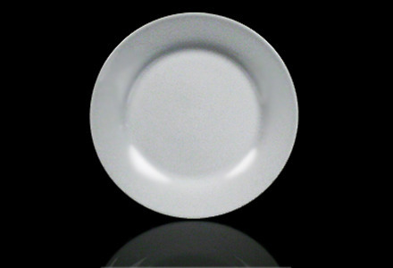Solid White Chop Plate