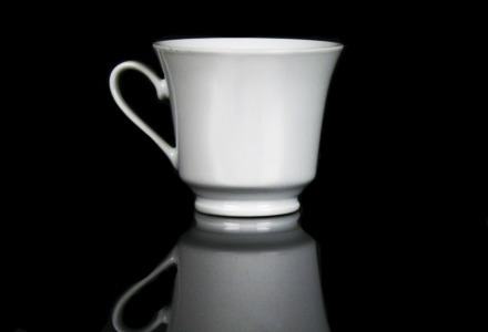 Solid White Coffee Cup