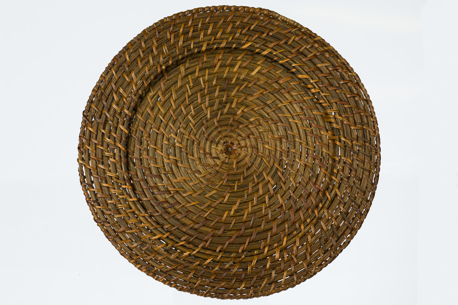 Dark Brown Rattan Charger