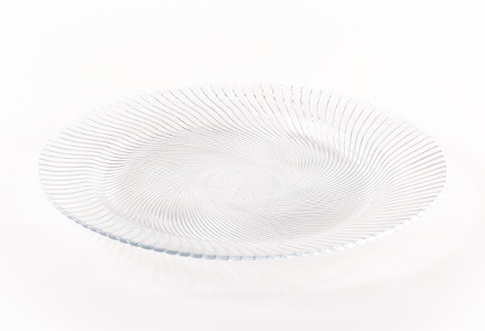 Glass Swirl Edge Charger