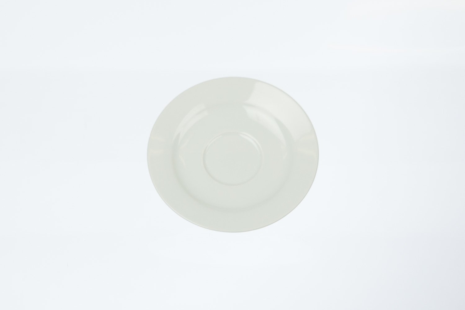 Solid White Saucer