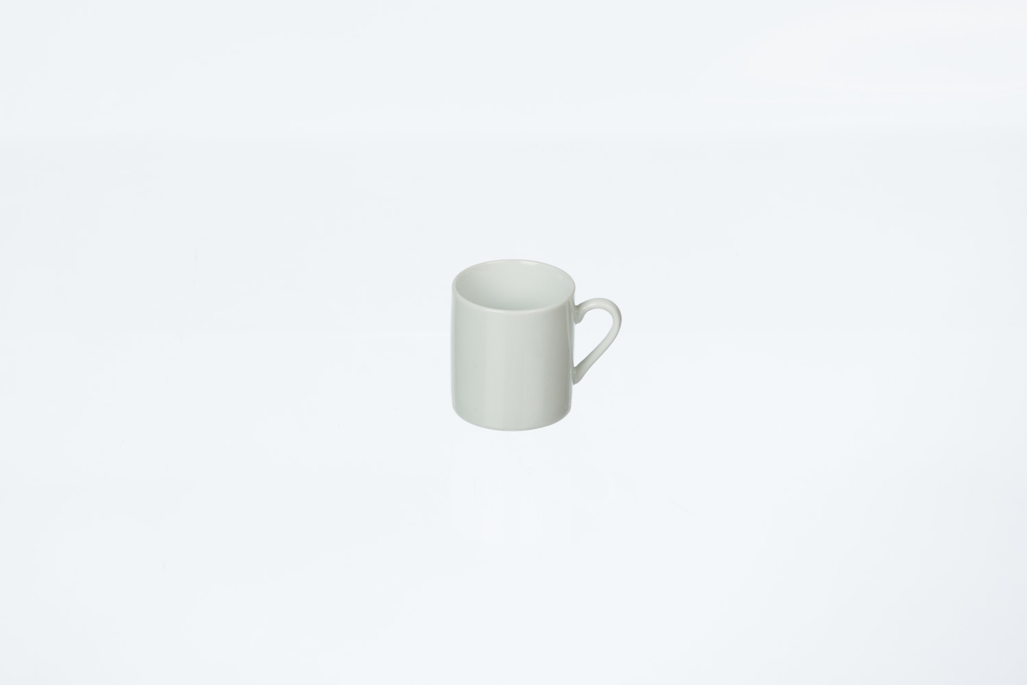 Solid White Demitasse Cup