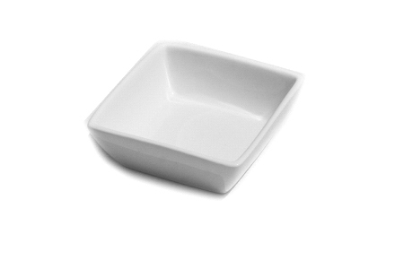 "Solid White 4"" Bakers Dish"
