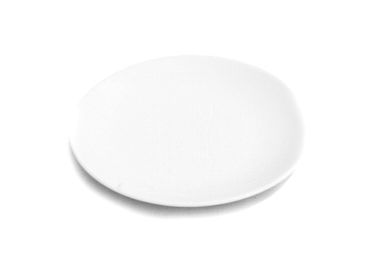 White Coup Dinner Plate