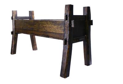 Galvanized Wood Trough No. 62