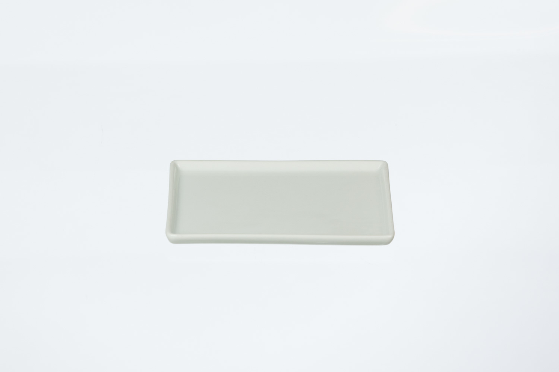 Solid White Rectangular Tapas Plate