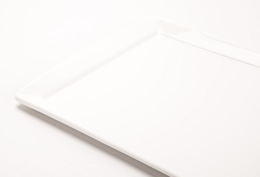 Solid White Rectangular Plate 8X13In Detail Lg Medium